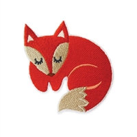 Red Fox Embroidered Iron On Patch Applique