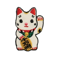 Zad Lucky Cat Embroidered Iron On Patch