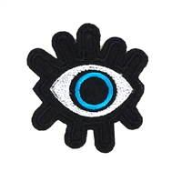Evil Eye Protection Embroidered Iron On Patch Applique