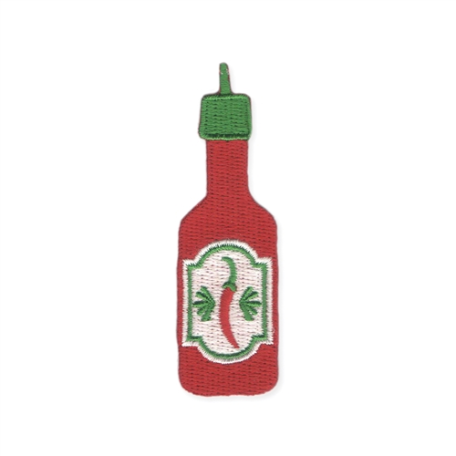 Hot Tamale Hot Sauce Embroidered Iron On Patch Applique