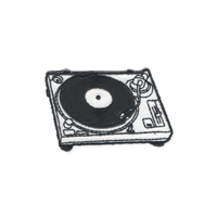 Retro DJ Turntable Embroidered Iron On Patch Applique