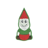 Zad Garden Gnome Embroidered Iron On Patch Applique