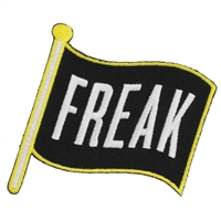 Zad Let your Freak Flag Fly Embroidered Iron On Patch Applique