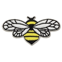Bumblebee Bee Embroidered Iron On Patch Applique