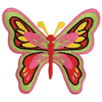 Zad Colorful Butterfly Embroidered Iron On Patch Applique