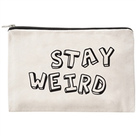 Stay Weird Zip Cosmetic Case Canvas Travel Pouch