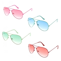 Bang Colorful Tonal Retro Aviator Sunglasses