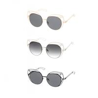 3b53eb6e72 Fashion Culture Oversized Laser Cut Cat Eye Sunglasses