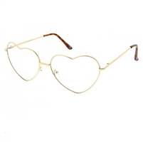 Fashion Culture Metal Heart Frame Blue Light Filter Glasses