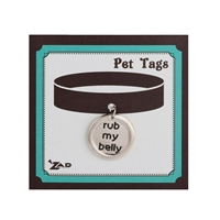 Zad Jewelry 'Rub My Belly' Charm Dog Tag