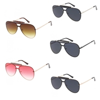 Hotshot Rimless Flat Shield Aviator Sunglasses