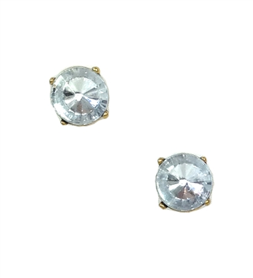 Crystal Cushion Cut Studs Earrings