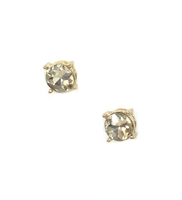 Crystal Gumdrop Studs Earrings