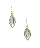 New York Style Clear Faceted Drop Earrings
