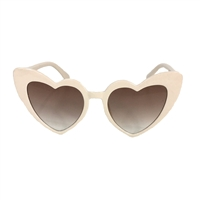 Shine Flat Heart Cat Eye Sunglasses