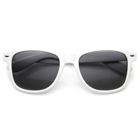 Amped Soft Rubberized Horned Rim Sunglasses