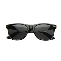Black Out Horned Rim Sunglasses