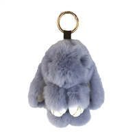 Floppy Bunny Geniune Rabbit Fur Purse Charm