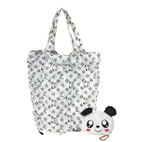 Fashion Culture Panda Purse Charm Packable Eco Shopping Tote