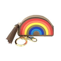 Rainbow Bag Charm Coin Purse Keyring