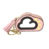 Fashion Culture Cloud Coin Purse Key Ring Bag Charm, Pink