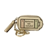 Fashion Culture Battery Purse Key Ring Bag Charm, Gold