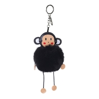 Money Around Pom Pom Bag Charm Key Chain