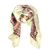 Fashion Culture Boho Feather Print Oversized Scarf Sarong, Multi