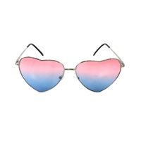 Pink Ombre Heart Metal Frame Sunglasses