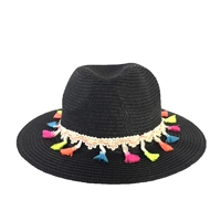 Fashion Culture Festive Tassel Straw Panama Hat