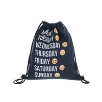 Fashion Culture Weekdaze Emoji Drawstring Backpack