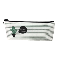 Fashion Culture Cactus Striped Zip Pouch Cosmetic Case