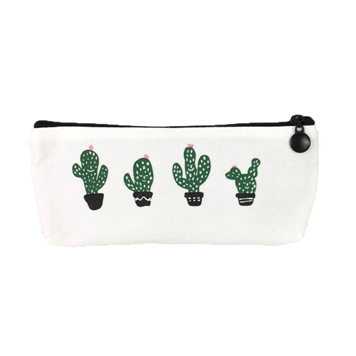 Fashion Culture Dancing Cactus Zip Pouch Cosmetic Case