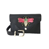 Fashion Culture Dragonfly Bejeweled Belt Bag Waist Pack