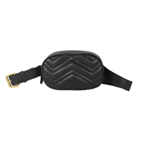 Fashion Culture Chevron Quilted Vegan Leather Belt Bag