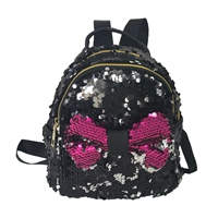 Fashion Culture Bow Tastic Sequin Mini Backpack