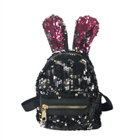 Fashion Culture Bunny Ears Sequin Micro Backpack