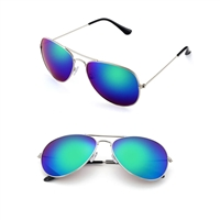 Drive Blue Mirrored Lens Aviator Sunglasses