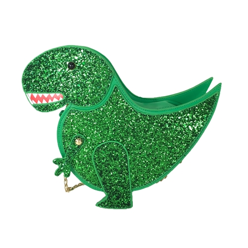 Fashion Culture Dinosaurs Rule T Rex Glitter Dino Crossbody