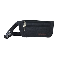 Fashion Culture Sport Double Zip Fanny Pack Waist Bag