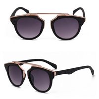 Wood Textured Small Frame Sunglasses