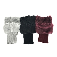 Fashion Culture Faux Fur Cuff Boot Toppers
