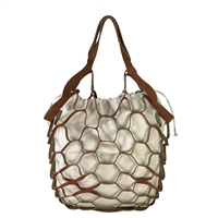 Fashion Culture Eden Mesh Nubuck & Canvas Market Tote