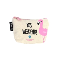 Fashion Culture Yes Weekend! Flamingo Coin Pursee