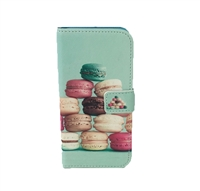 Fashion Culture Macaron Print iPhone 6 6S Folio Case