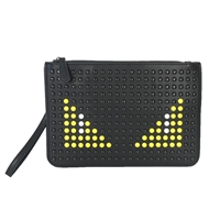 Fashion Culture Studded Monster Eyes Clutch Wristlet