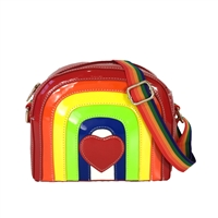 Fashion Culture I Heart Chasing Rainbows Crossbody
