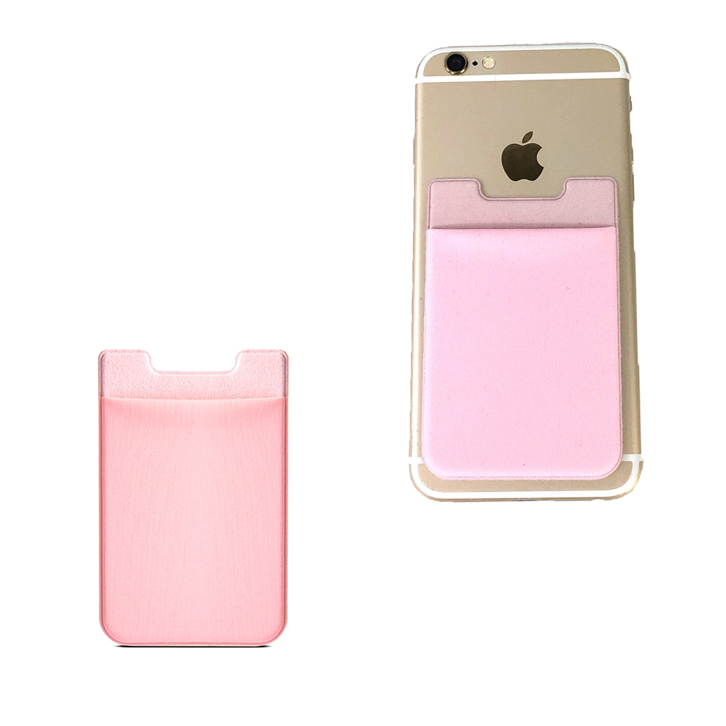 fashion culture stretch sticker phone pocket card holder pink - Pink Card Holder