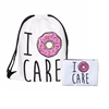 I Donut Care Drawstring Backpack Knapsack Cosmetic Case