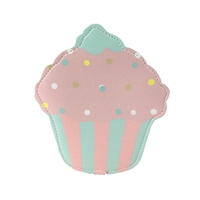Cupcake Slim Coin Purse Key Ring